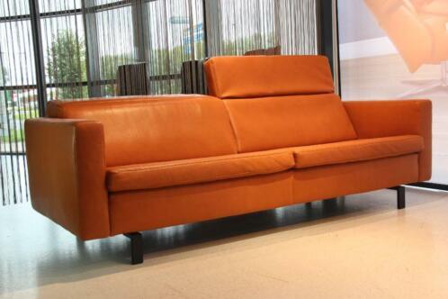 3 Zits Design Bank.3 Zits Design Bank Leer Touche Jesolo Kleur Cognac Gealux