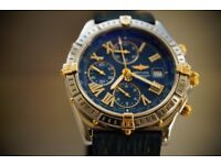 Breitling Crosswind automatic mechanical chronograph wristwatch - Bi-metal - B13055 - original model