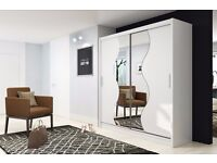 2 sliding doors 203 cm perfect interior gloss mirror glass wood