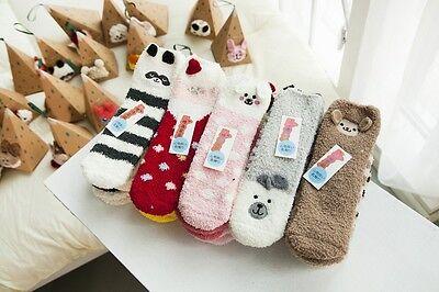 Socks Fun Cute Cozy Warm Fuzzy Animals For Kids                        ()