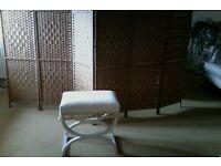 Lloyd loom dressing table stool
