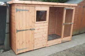 Hutch with Pent Roof