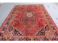 Full Room Size Rare Floral Design Hand Woven Armenian Lilian Rug 345x235cm, CENTRAL PERSIA