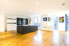 Superb large and bright 17th floor 2 bed 2 bath apartment in Canary Wharf ***NO AGENCY FEES***