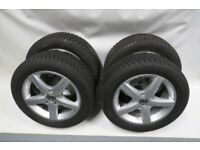 VW GOLF VI JETTA CADDY 205/55/R16 SET OF 4 WHEELS WINTER DUNLOP TYRES ASPEN 16''