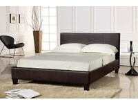 NEW DOUBLE & KING SIZE LEATHER BED + MATTRESS OPTION AVAILABLE