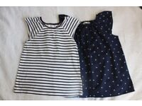 2 t-shirts and 1 pair of shorts H&M 122/128cm 6-8y