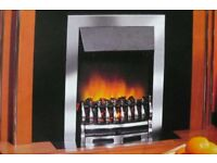 NEW DIMPLEX WYNFORD ELECTRIC FIRE - ONE AVAILABLE IN CHROME AND ONE AVAILABLE IN ANTIQUE BRASS
