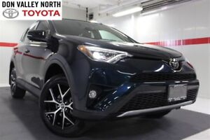 2017 Toyota RAV4 SE AWD Sunroof Nav Btooth BU Cam Heated Lther
