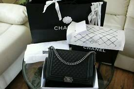 Chanel Le Boy 30cm 100% Lambskin leather with all packing