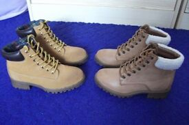 2 pairs Ladies boots - Size 2 - New Look
