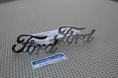 Chrome Ford Script Emblems Hot Rod Pickup Truck Low Boy Deuce Coupe Fender Body