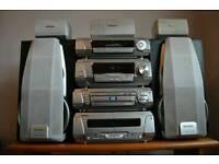 Technics hifi stereo with surround sound dvd video home cinema