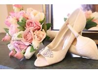 Lace bridal shoes - Monsoon, Size 8