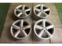 "Genuine AUDI 18"" TT MK2 5-Spoke Alloy wheels 5x112 A8 A6 TTS VW rims"