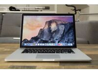 GOOD SPEC MACBOOK PRO RETINA 15 inch 3.2ghz i7 QUAD CORE, 8gb RAM, SSD,OFFICE 2016, ADOBE CS6
