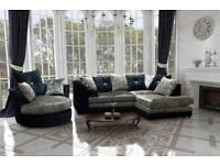 CHEAPEST PRICE LUXURY SOFA + Free FootStool 3+2 SEATER C0RNER SUIT 40234