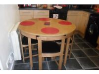Swap wanted,I have a new round table with 4 chairs that are space saving