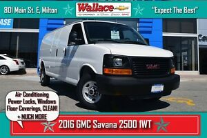 2016 GMC Savana 2500 1WT/AIR CON/WARRANTY/V8/NO ACCIDENTS/EZ CLE