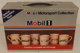 Box of 6 MOBIL Motorsport Collection Mugs