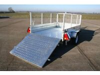 Trailer 8 x 4 With Utility Cage and Rear Loading Ramp LAST ONE!!!!!