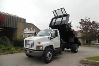 2007 GMC Topkick LOW KM,Double frame,PTO, Dumping steel flatbed.
