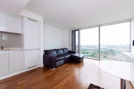 Stunning 1 Bed Apartment on 40th Floor of Landmark East Tower, E14, Canary Wharf, Gym, Concierge- VZ