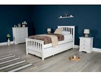 HEYWOOD SOFT WHITE SOLID WOOD BED