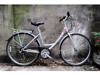 GIANT EXPRESSION, 18 inch, 49 cm, ladies womens hybrid road city bike, loop frame, 18 speed
