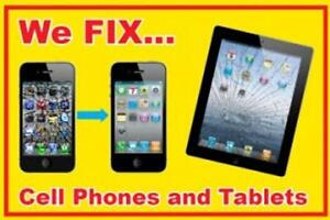 WE REPAIR, UNLOCK ANY CELL PHONE  & FIX ALL TABLETS