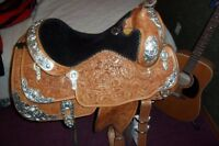 Beautifully Embossed Silver Show  Billy Cook Show Saddle