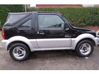 Suzuki Jimny O2 Convertible 2004, Good M.O.T. and New Cam belt. Lady Owner clean interior