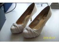 Bridal Shoes Cream Satin