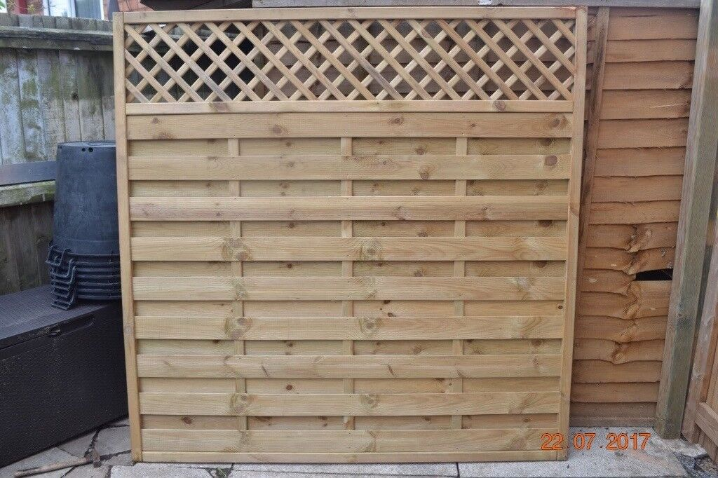 Grange 6ft High Wooden Elite Garden Fence Panel
