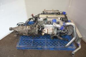 JDM Toyota 1JZ-GTE VVTi 2.5L Turbo Engine Auto Transmission ECU Wiring Intercooler Supra Soarer Chaser Front Sump 1JZ