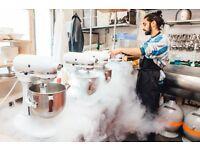 ice cream scoopers, cooks needed for chin chin Dessert Club in Soho to work w/ Liquid Nitrogen