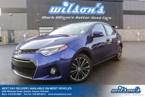 2014 Toyota Corolla S LEATHER TRIM! SUNROOF! REAR CAMERA! HEATED