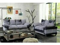 🔵💖🔴ACCEPT CASH ON DELIVERY TIME🔵💖🔴NEW DINO JUMBO CORD FABRIC CORNER SOFA SUITE / 3 & 2 SEATER