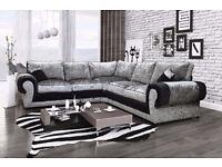 *BRAND NEW* Crushed velvet corner sofas/ Crushed velvet 3+2 seater sofa sets also available ****
