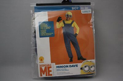 DESPICABLE ME 2 MINION DAVE DELUXE HALLOWEEN COSTUME CHILD SZ 8 MEDIUM BOYS NWT  - Despicable Me 2 Minion Halloween Costumes