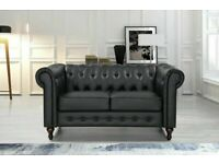 🔵💖🔴DESIGNER FURNITURE🔵💖🔴CHESTERFIELD PU LEATHER SOFA 2 SEATER-CASH ON DELIVERY-Order Now