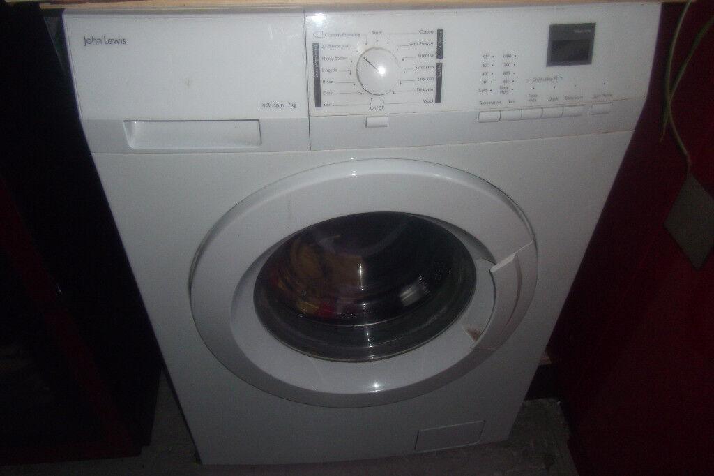 washing machine, john lewis