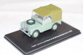 60th anniversary land rover diecast series one model huey 1:43