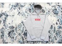 Supreme Box Logo hoodie Grey Size: SMALL, unwanted gift