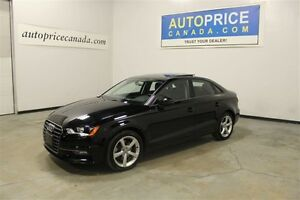 2016 Audi A3 2.0T|PANOROOF|AWD|LEATHER