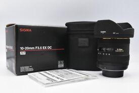 Sigma 10-20mm F3.5 EX DC (Nikon Fit) Wide Angle Lens