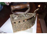 Antique Brass Coal Iron