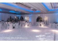 Dancing Floors - White LED dance floor hire - London