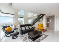 42ND & 43RD FLOOR LUXURY DUPLEX APARTMENT IN PAN PENINSULA E14 CANARY WHARF SOUTH QUAY DLR FURNISHED