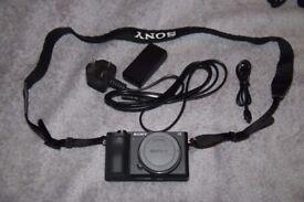 Sony Alpha A6500 Mirrorless 4K Camera Body (Built in stabilisation, touchscreen 4d autofocus)